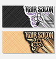 banners for hair salon vector image vector image