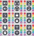 Battery Headphones Smartphones Survey Lock Diagram vector image vector image
