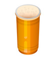 beer plastic cup icon isometric style vector image vector image