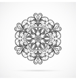 Black Color Mandala over white vector image vector image