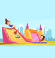 bouncy castle flat composition vector image vector image