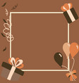brown gift boxes happy birthday in square vector image
