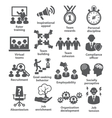 Business management icons Pack 21 vector image vector image