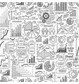 business seamless background hand-drawn graph