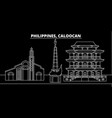 caloocan silhouette skyline philippines vector image