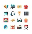 Cinema Isolated Icon Set vector image
