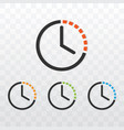 clock timer with different color vector image