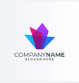 colorful logo design template creative social vector image