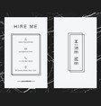 corporate white business card template vector image vector image
