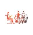 couple psychologist problem relationship vector image vector image