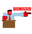Dismissed Red angry Bos points to door Aggressive vector image vector image