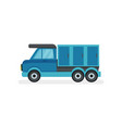 flat icon of blue truck with refrigerator vector image