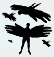 flying man vector image