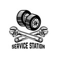 garage service station car repair design element vector image