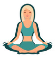 girl enjoying yoga cartoon character vector image