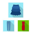 isolated object woman and clothing symbol set vector image