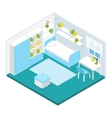 Isometric Children Room Composition vector image vector image