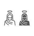 jesus line and glyph icon christianity and god vector image vector image