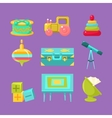 Kids Room Objects Collection vector image