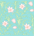 lily flowers pattern vector image vector image