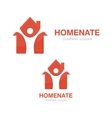man and house logo concept vector image vector image