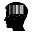 mind with barcode vector image