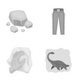 mine cleaning and other monochrome icon in vector image vector image