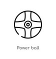 outline power ball icon isolated black simple vector image vector image