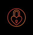padlock in heart shape concept colorful vector image vector image