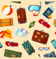 pattern with summer symbols seamless vector image vector image