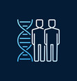 people with dna double helix linear colored vector image