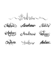 Personal name tattoo Andrew vector image vector image