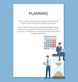 planning visualization poster vector image vector image