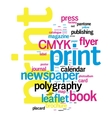 Printing Word Cloud vector image vector image