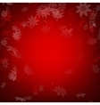 Red christmas background with snowflakes EPS 10 vector image vector image