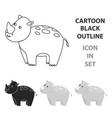 rhinoceros icon cartoon singe animal icon from vector image