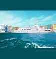 sea ship standing vector image