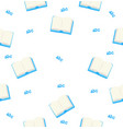 seamless blue book with pattern background vector image vector image