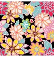 seamless floral backgroundisolated flowers vector image vector image