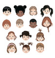 set children different nationalities vector image