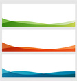 Set of abstract colorful banners with white top vector image