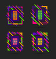 set of colourful geometric frames vector image