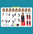 set of super businesswoman character vector image vector image