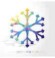 Snowflake Low Poly vector image vector image