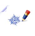 snowflake sketch vector image