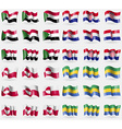 Sudan Croatia Greenland Gabon Set of 36 flags of vector image