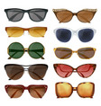 summer sunglasses set vector image