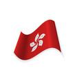 the flag of hong kong vector image