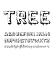 trees alphabet vector image