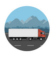 truck on mountain road vector image
